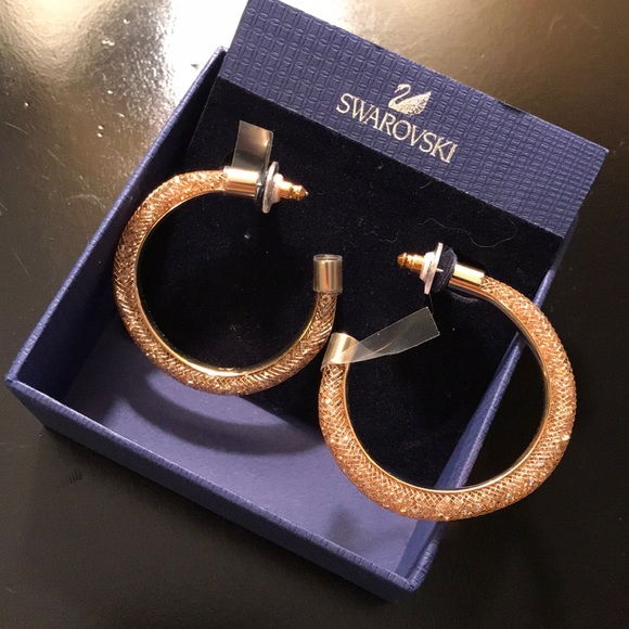 df89eccf171cf Swarovski Stardust Hoop Earrings